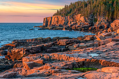 Acadia National Park   ME   Monument Cove - Sunrise Glow (Marcus Frank) Tags: flickrtravelaward maine acadia national park sunrise surf ocean sea atlantic cliffs tide
