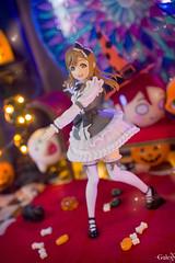 Yohane-sama's Little Demon (GaleXV) Tags: jfigure bfigure segaprize lovelive lovelivesunshine halloween toyphotography diorama sony a6300 stainedglass