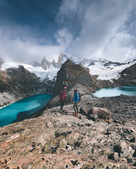 Laguna De Los Tres (ThibaultPoriel) Tags: lagunadostres patagonie patagonia fitzroy gh5 lumix argentine travel trek trekkin mountains mountain peak landscape sky perspective peoples laguna lake el chalten de los tres