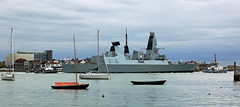 In my defence (crusader752) Tags: daringclass destroyer d36 hmsdefender oldportsmouth roundtower guidedmissiledestroyer type45 royalnavaldockyard portsmouthharbour sdtempest sdindependent serco tug tugs vessels boats yachts buoys