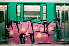 Metro Nation (herbdolphy) Tags: analogique argentique analog pellicule 35mm kodak portra 400 pentax p30n 50mm film filmisnotdead paris metro graffiti