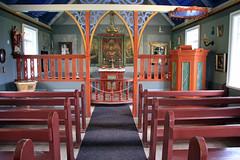 Inside Skógar Church (JB by the Sea) Tags: skógarchurch skógakirkja southiceland southconstituency suðurkjördæmi southcoast iceland ísland europe september2018 skógar skogar rangárþingeystra skógarfolkmuseum skógasafn