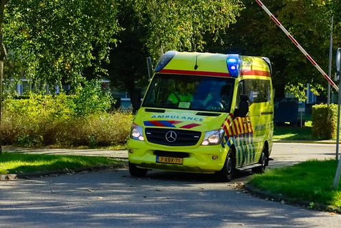d4e8876524 Dutch Ambulance underway to an emergency call in Amsterdam