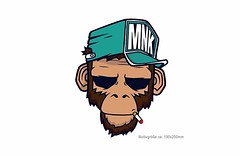 Großes Bügelbild SMOKE MONKEY, Print Patch zum aufbügeln (patchmonkeys) Tags: patch bügelbild vogel comic roll style stil young applikation fashion aufbügler street urban symbol livestyle spas streetwear print druck design transfer affe chimpanse ninja