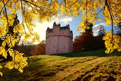 Autumn magic, Craigievar Castle (iancowe) Tags: craigievar castle craigievarcastle autumn leaves tree trees autumnal sun nts national trust for scotland scottish nationaltrustforscotland aberdeenshire