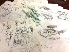 I am drawing a diagram of Enterprise NX-01 origami (Matayado-titi) Tags: sugamata spaceship starship space shusugamata startrek origami enterprise nx01 diagram matayado