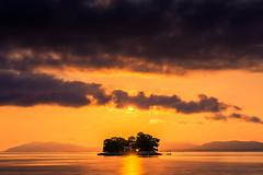 sunset 6144 (junjiaoyama) Tags: japan sunset sky light cloud weather landscape orange contrast color bright lake island water nature autumn fall calm dusk serene reflection