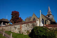 Village Church Godstone (Adam Swaine) Tags: church churches churchwalls rural ruralvillages godstone surreychurches surreyvillages surrey autumn england english englishvillages counties ukcounties uk ukvillages beautiful britain british county