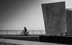 bycicle (robertoburchi1) Tags: blackwhite bianconero bycicle street persone absoluteblackandwhite