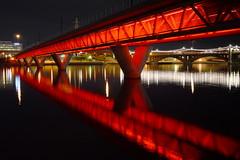 x^x^^X^^^X^^^^X (jeffr71) Tags: jeffbridges bridge water lake tempe le longexposure red night rail lights