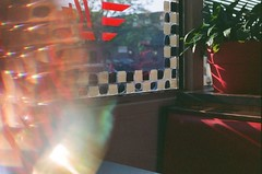 Broadway Diner in downtown Columbia, Missouri (plasticpeaches) Tags: cute neat tripp's kaleidoscopelens experimentation experiment lightleak canonae1program filmisalive filmisnotdead film 35mm downtown missouri columbia como broadway aesthetic cool vintage diner 1950s retro 50s