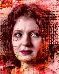 Red....ish (posterboy2007) Tags: red portrait ela schoolgirl singlelight polish model eyes greeneyes grunge