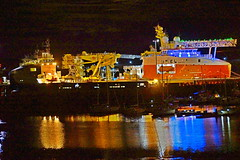 Night time Peterhead Harbour. (artanglerPD) Tags: habour marina lit up night time