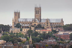 Lincoln Cathedral & Lancaster (deltic17) Tags: lancaster bbmf battleofbritain lestweforget bomber bombercommand bombercounty lincoln lincolncathedral lincolnshire avro photo