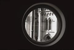 the library window (Daz Smith) Tags: dazsmith fujifilmxt3 xt3 fuji bath city streetphotography people candid portrait citylife thecity urban streets uk monochrome blancoynegro blackandwhite mono window round church library