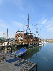 Masted ship docked in harbor, Kyrenia / Girne, Cyprus (Paul McClure DC) Tags: kyrenia girne cyprus northcyprus june2018 scenery mediterranean architecture historic