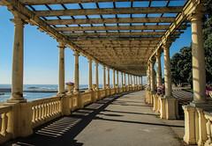 Pergola - Foz do Douro - Portugal (phil_king) Tags: pergola foz do douro beach sea seaside coast path promenade structure shadows porto portugal