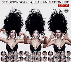 SEmotion Scare & Fear Animation HUD @ GachaLand (Marie Sims) Tags: gacha gift event emotion expressions expression semotion scary horror ao animations animation avatar anim animaitons animaions aohud animated animarions hud halloween holidays hands bento fear mocap modeling model mood facial