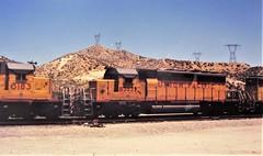 Union Pacific SD40-2 locomotive at Cajon Summit in 1993 (3) (Tangled Bank) Tags: union pacific train railroad railway north american emd locomotive sd402 california 1990s 90s cajon pass summit