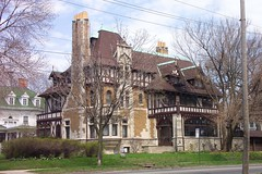 Toledo Ohio - Tiliinghast Willys Mansion - Old West End District - Architecture - Tudor (Onasill ~ Bill Badzo) Tags: lucascounty toledo oh ohio tillinghast willys mansion house 2210 robinwood avenue ave style architecture tudor old west end district classic landmark nrhp grand staircase ecectric foyer elegant stained glass windows fireplace vintage photo englewood onasill chimney unitedstates 237