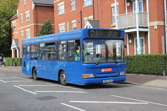 Trustybus / Galleon Travel ( 2009 ) Ltd . Roydon , Essex . SN03EBU . Waltham Cross , Hertfordshire . Friday 28th-September-2018 . (AndrewHA's) Tags: walhamcross bus trustybus galleon travel roydon transbus dennis dart alexander pointer sn03ebu harlow route second hand solent blue line 572 go ahead south coast southampton 3303 bluestar