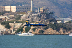 Sneak Pass and the Rock (jankertown) Tags: fleetweeksf fleetweek2018 blueangels sanfrancisco sfbayarea sfbay airshow