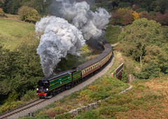 92 Squadron at Darnholm (Frodingham Photographer) Tags: 2018 nymr southern 34081 92squadron darnholm steamtrain steamgala train northyorkshiremoorsrailway spamcan battleofbritainclass