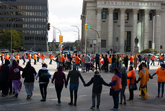 Portage & Main Round Dance 2018-09-30 — 4 (WPG Happening!) Tags: round dance rounddance portage main portageandmain portagemain pm 2018 residential school schools memorial ceremony residentialschools residentialschool canadianindianresidentialschools canadianindianresidentialschool indianresidentialschools indianresidentialschool indian indigenous native canadian nativecanadian american nativeamerican anishinaabe anicinabe people person group circle demonstration memorail commemoration protest winnipeg manitoba canada street road avenue st ave intersection traditional corner buildings building city exchange theexchange district exchangedistrict cityofwinnipeg orange shirt day shirts orangeshirtday