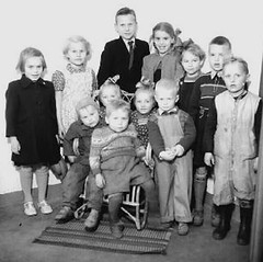 On Holiday (theirhistory) Tags: boy children kids girls jumper trousers wellies boots dungarees