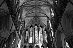East Window (WorcesterBarry) Tags: blackwhite bnw blackandwhite architecture england worcester windows places photographers prayers lovebw love light lines happiness heritage