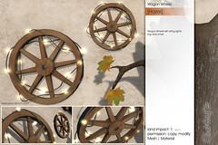 Sway's [Hazel] Wagon Wheel   FLF (Sway Dench / Sway's) Tags: flf sways sl vr fall autumn decor light wagon wheel