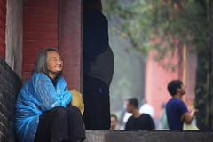 Happy Old Woman (Bl.Mtns.Grandma) Tags: shaolin buddhist monastery henanprovince china temple woman
