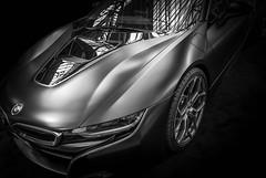 i8 (Dave GRR) Tags: bmw i8 importfest toronto auto show 2018 supercar sportscar monochrome mono bw olympus matte black background
