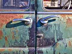 Rusted Car (Arek Eych) Tags: rusted car antique abandoned britishcolumbia canada door handle petina
