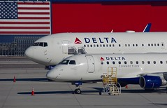 Delta Airlines (RedRipper24) Tags: airliners aircraft 767 erj170 embraer boeing slc salt airplanes saltlakecity americanflag