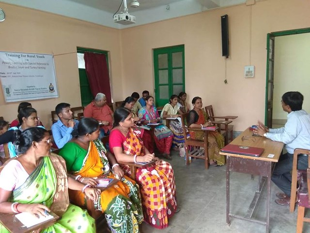A 3-day old training on Scientific Management of Poultry with special reference to broiler  layer and turkey farming was organised by Sasya Shyamala KVK during 09-11 July 2018