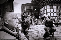 Domkhar Tshechu at the Domkhar Lhakhang in Chumey (Robert GLOD (Bob)) Tags: chhume chhumevalley chhumey chhumeyvalley chumey chumeyvalley domkhar domkharlhakhang domkhartshechu lhakhang tshechu architecture bw basin blackandwhite building bust construction face festival festivals group groups headshot lowland monochrome parties party people person photographer portrait portraiture portrayal prairie professions profile religion religious roles streetphotography temple temples valley bumthang bt bhutan