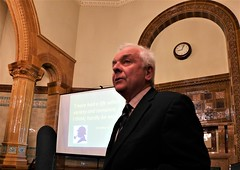 David Jones asks for questions from the floor, and of course there are many (photo by Roger Johnson)