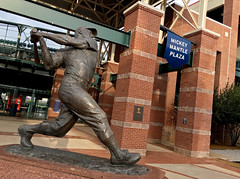 Mickey Mantle Plaza (cowyeow) Tags: oklahomacity usa oklahoma midwest america bricktown chickasaw travel street mickeymantle statue stadium baseball sports city downtown americana