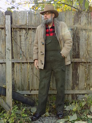 10-21-2018 Today's Clothes (Michael A2012) Tags: this mans autumn style vintage fashion resistol stagecoach long rider western hat kettle curl canterbury leathers international double face sheepskin jacket minnesota woolens duluth buffalo check filson mackinaw bibs wool shearling red wing amber harness boots iron ranger