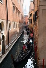 Venice - the city of narrow canal corridors. (One more shot Rog) Tags: venice italy canal canals waterways old narrow boatsgondoliersone more shot rog burano murano torcellli narrowboats floating gondola gondolier row rowing poles oars