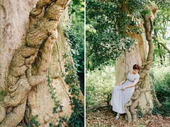 Irina (Yuliya Bahr) Tags: woman tree nature forest green fineart portrait diptych wood germany romantic wedding