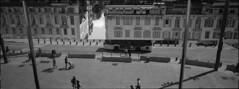 Marseille - Xpan sea port mirror shot (faustosiopasinatiss) Tags: marseille marsiglia france sea port seaport trix kodak xpan 45mm analog analogphotography film filmphotography blackandwhite street streetphptpgraphy streetphotography