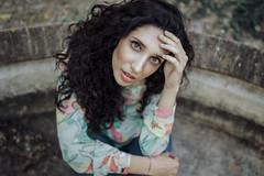 Empty fountain (Enrico Cavallarin) Tags: aquamarine park girl curly italiangirl woman eues skin light portrait portraiture retrato ritratto