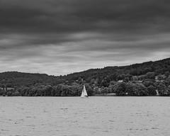 Sailing into the storm (Robin Mulligan) Tags: boat lake coniston lakedistrict nikon nikonpassion landscape landscapephotography outdoor outdoorphotography mono blackandwhite