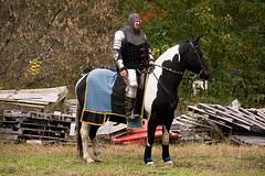Knights of Mayhem, AM show (Pahz) Tags: joust jousting knightsofmayhem kom charlieandrews horse lance shield armor armour squire knight jouster agatheringofroguesruffians circusworld baraboowi grr2018 pattysmithgrr nikond7200 tamron16300 renaissancefairephotographer renfaire renfest renaissancefaire cosplay garb costuming