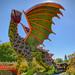 Dragon Made of Flowers - Atlanta Botanical Garden