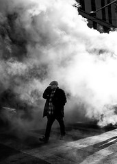 (thetzar) Tags: newyork xt2 blackandwhite nyc steam street