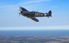 DSC_2229_fs_crop_wm (darrenijames) Tags: spitfire mk ix aero legends raf royal air force war bird aircraft kent sea channel headcorn september 2018 nikon d850 70200 mm f28 fl charlie brown coap de haviland dove a2a sun