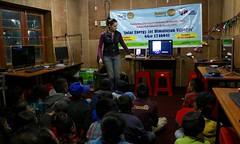 Presenting to students at Photoksar